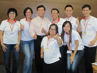 Meridian 101 team with PA Chief Exec Director Yam Ah Mee